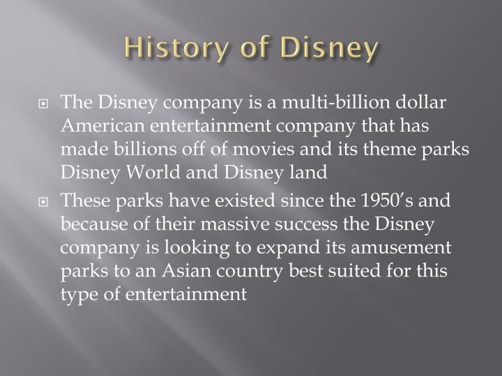 History of Disney