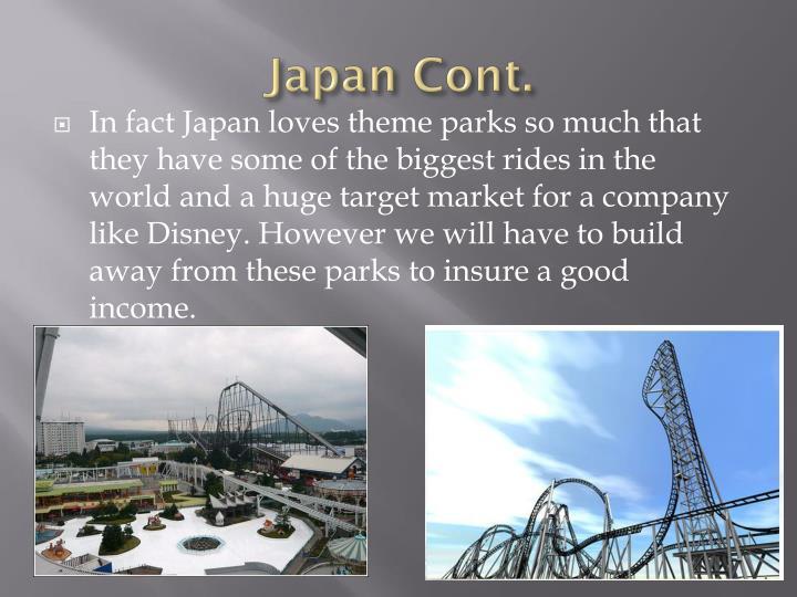 Japan Cont.