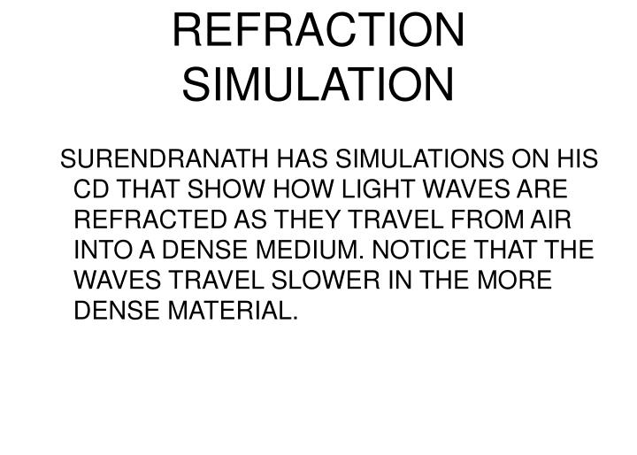 REFRACTION SIMULATION