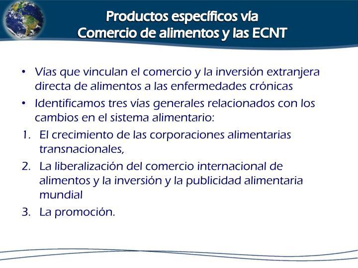 Productos específicos vía