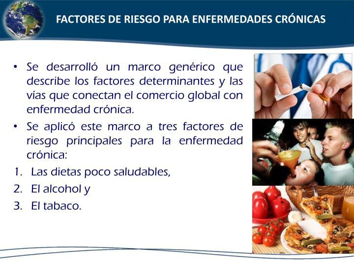 FACTORES DE RIESGO PARA ENFERMEDADES CRÓNICAS