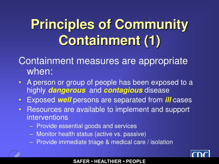 Principles of Community Containment (1)
