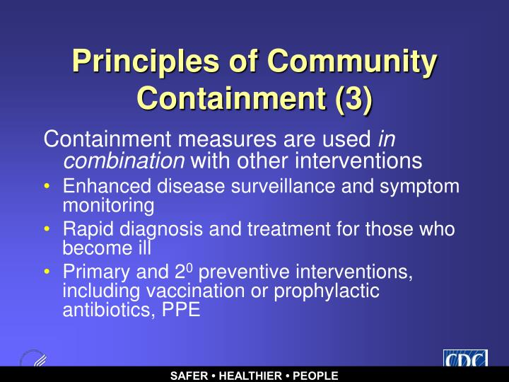 Principles of Community Containment (3)