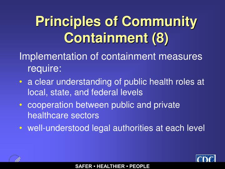 Principles of Community Containment (8)