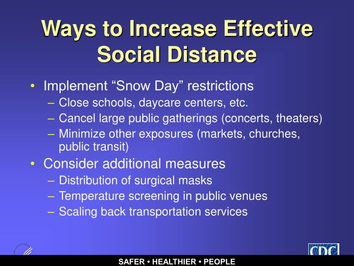 Ways to Increase Effective Social Distance