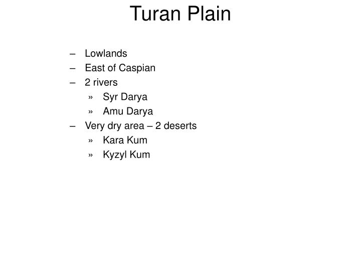 Turan Plain