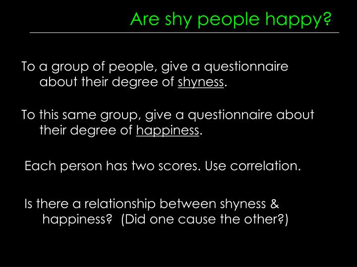 Are shy people happy?