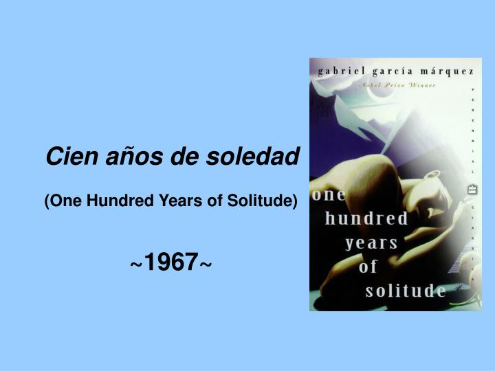 100 hundred years of solitude pdf