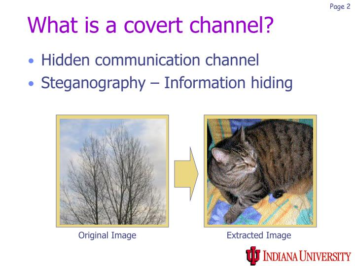 What is a covert channel
