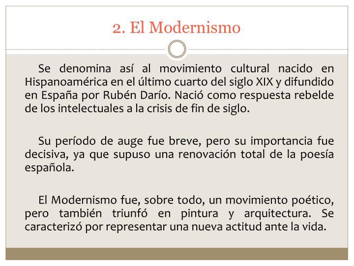 2. El Modernismo