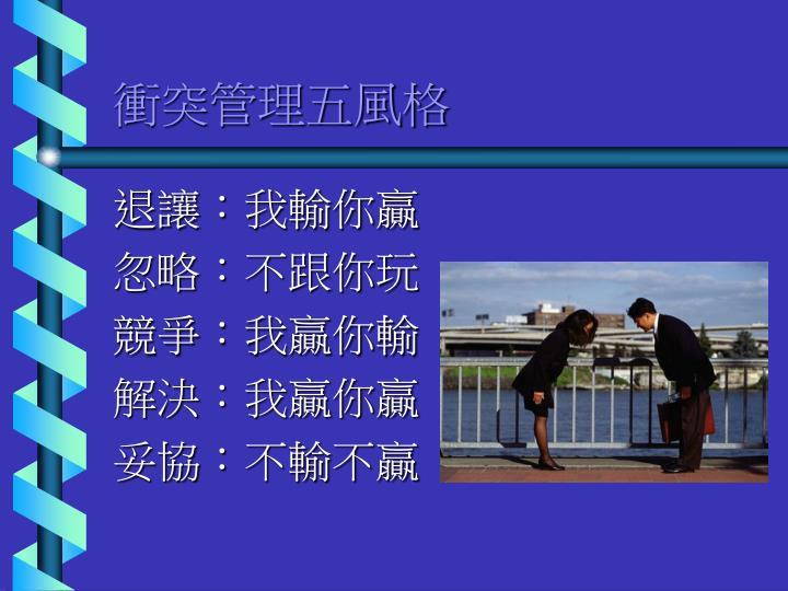 衝突管理五風格