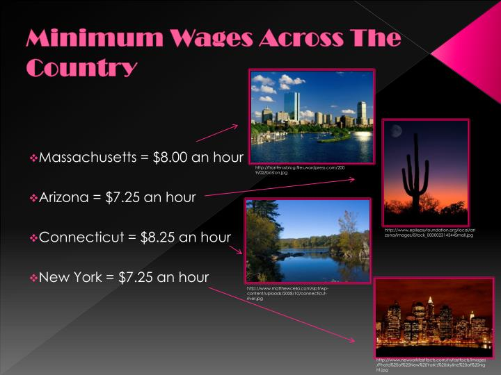 Minimum Wages Across The Country
