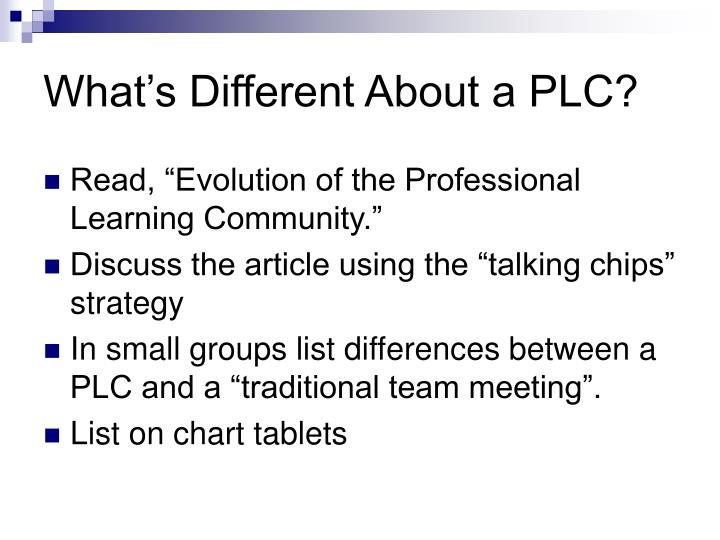 What's Different About a PLC?