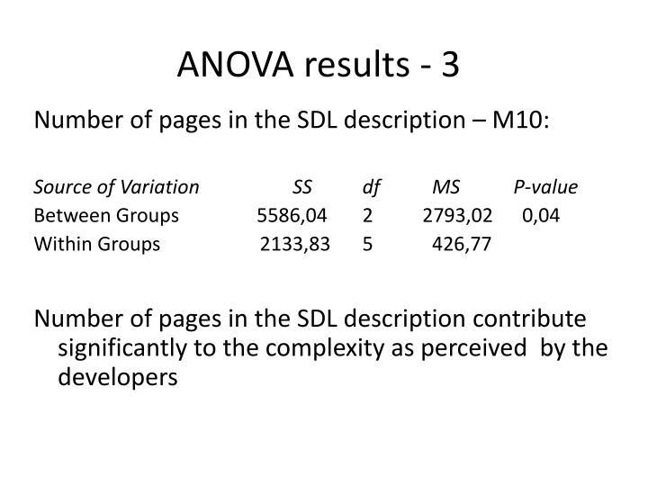 ANOVA results - 3