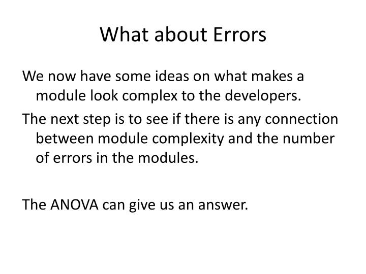 What about Errors