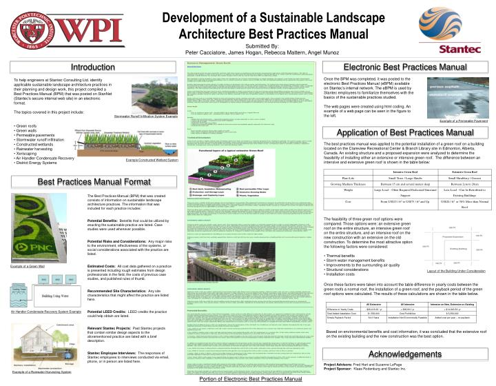 Development of a Sustainable Landscape