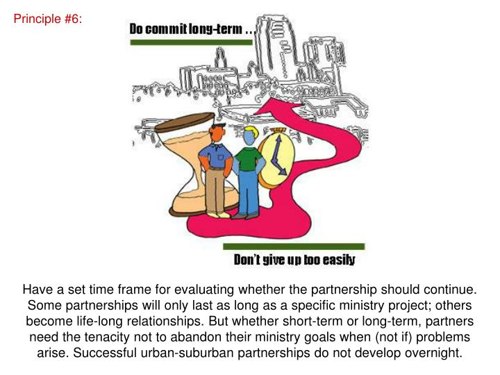 Principle #6: