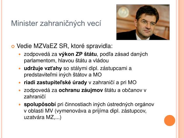 Minister zahraničných vecí
