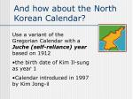 and how about the north korean calendar