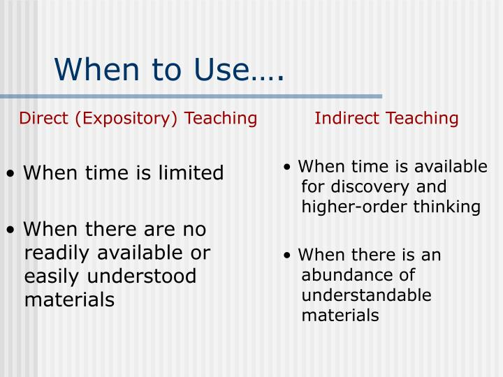 Direct (Expository) Teaching