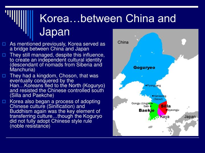 Korea…between China and Japan