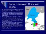 korea between china and japan