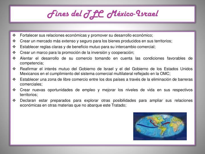 Fines del TLC  México-Israel