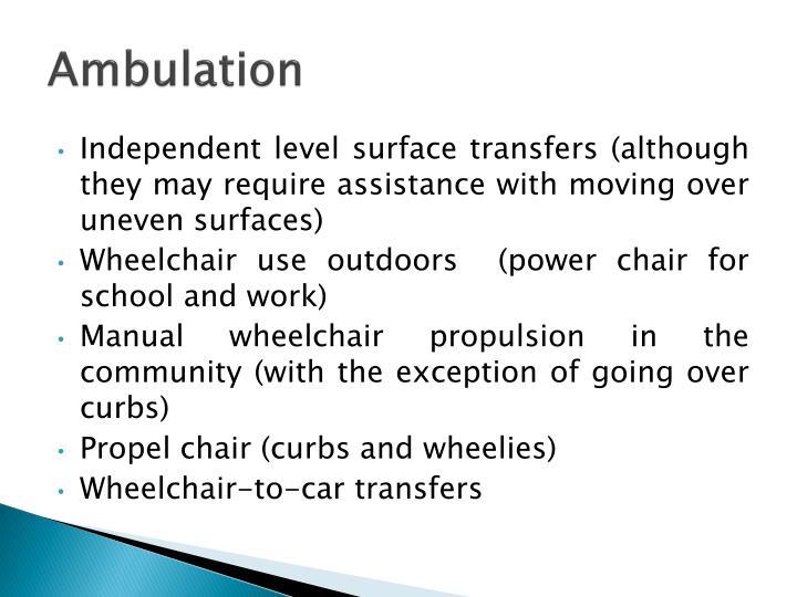 Ambulation