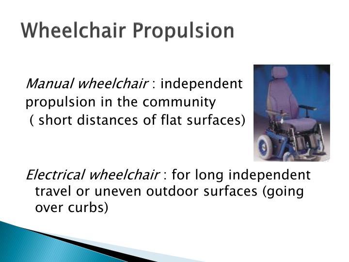 Wheelchair Propulsion
