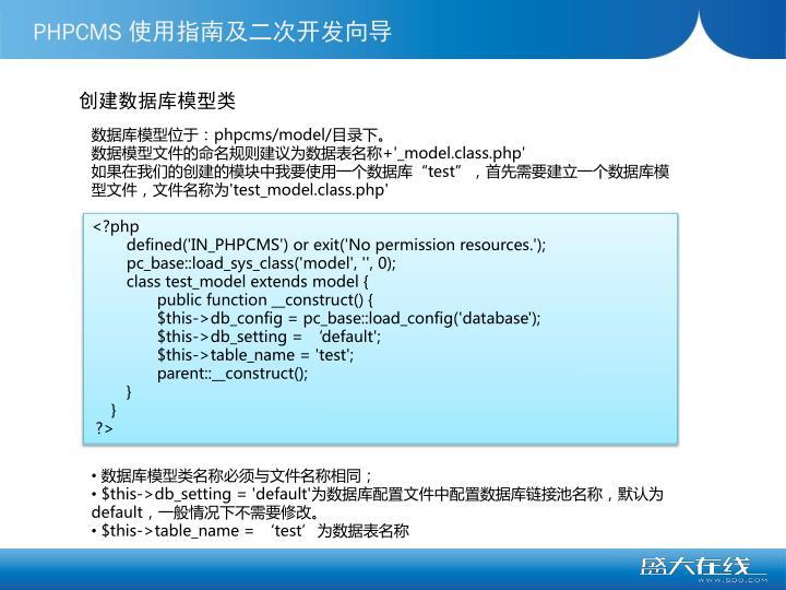 创建数据库模型类