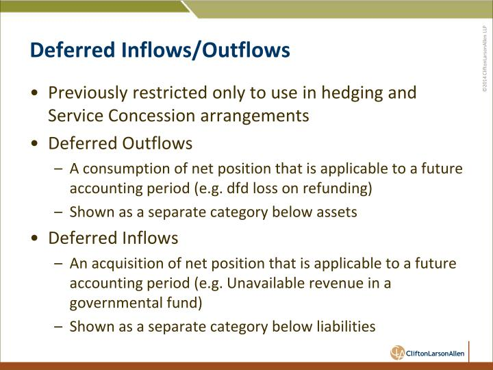 Deferred Inflows/Outflows