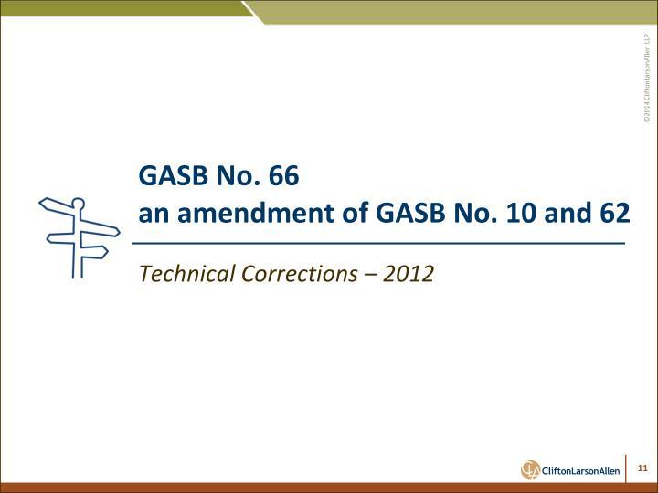 GASB No. 66