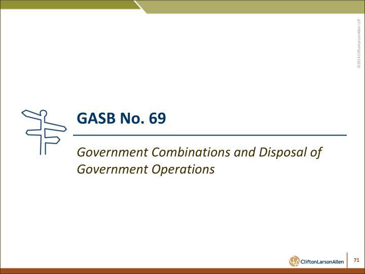 GASB No. 69