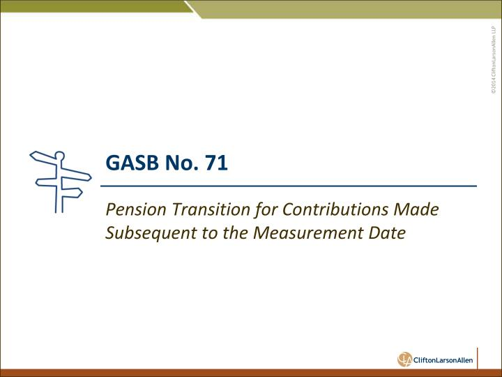 GASB No. 71
