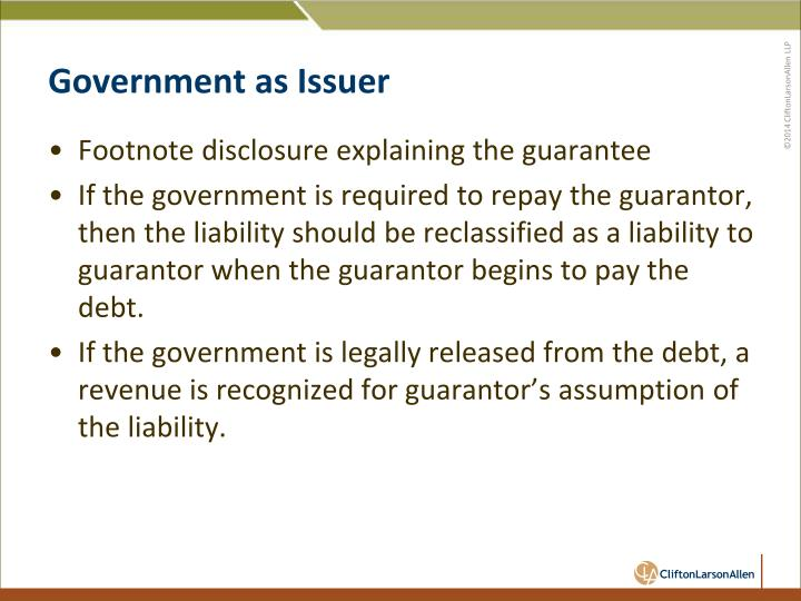 Government as Issuer