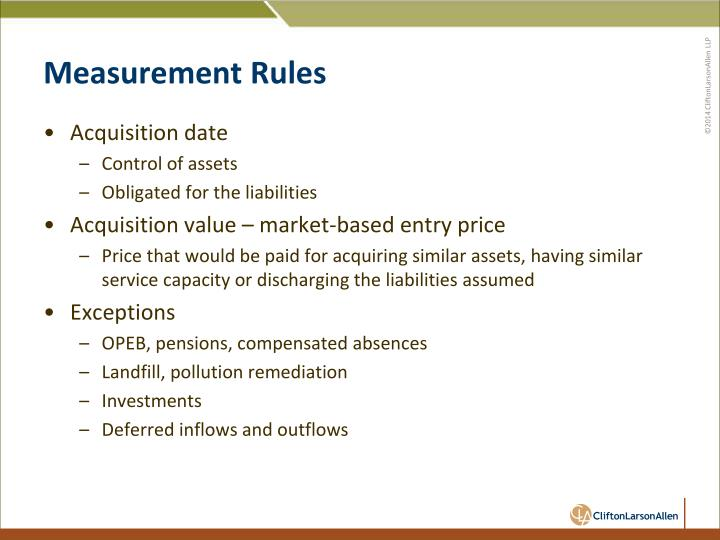 Measurement Rules