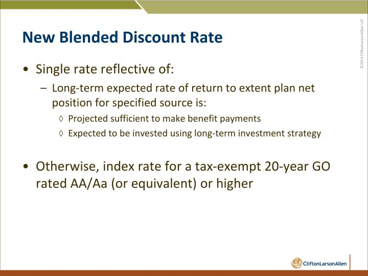 New Blended Discount Rate