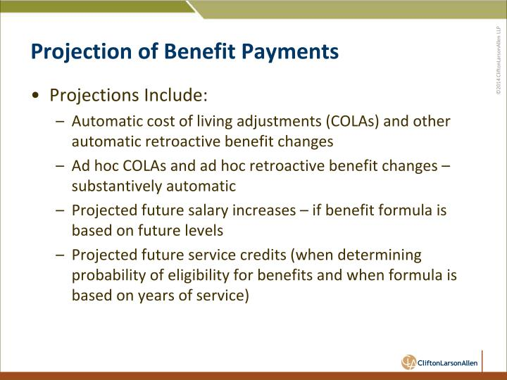 Projection of Benefit Payments