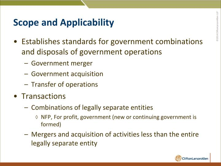 Scope and Applicability