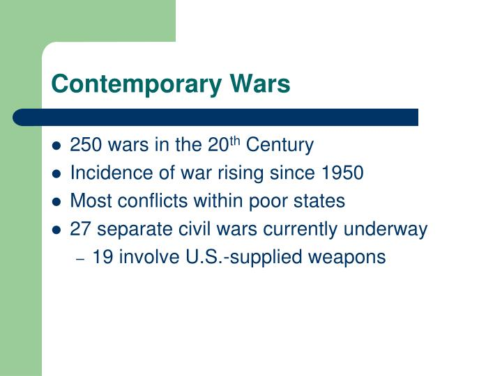 Contemporary Wars