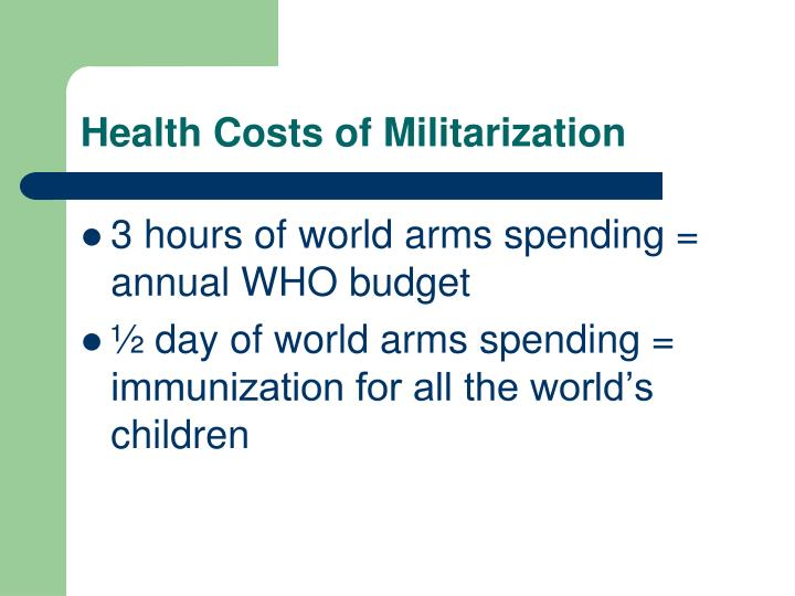 Health Costs of Militarization