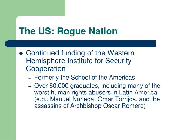 The US: Rogue Nation