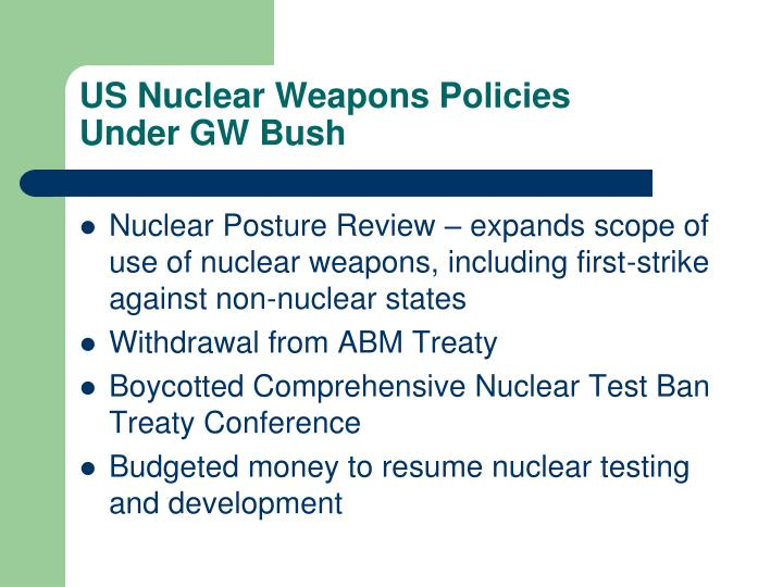 US Nuclear Weapons Policies