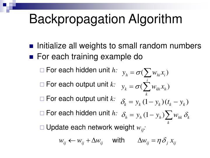 Backpropagation Algorithm