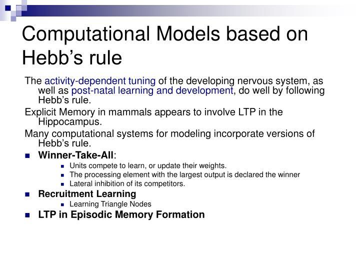 Computational Models based on