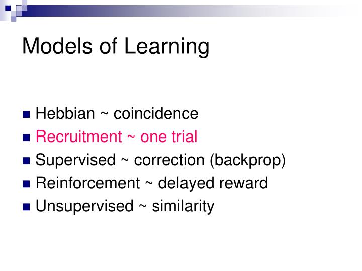 Models of Learning