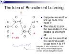 the idea of recruitment learning