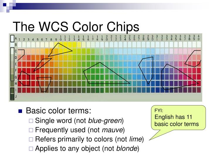 The WCS Color Chips