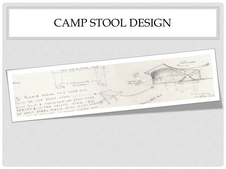 Camp Stool Design