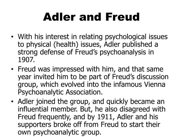 Adler and Freud